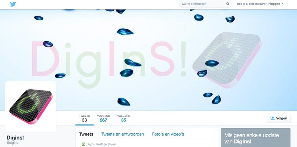 Digins op twitter