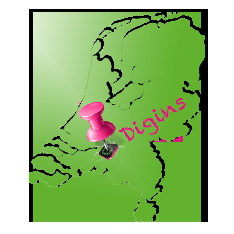 Digins lokatie op kaart